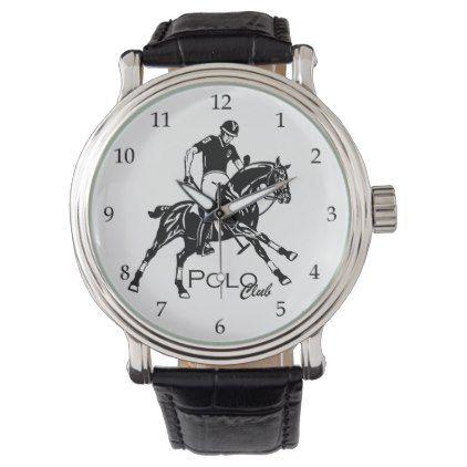 #equestrian polo club wristwatch - customized designs custom gift ideas