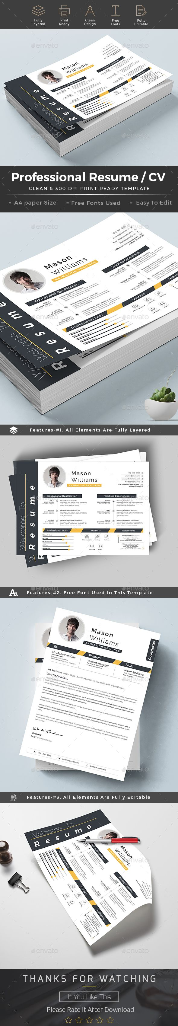 Resume Landscape Design Template - Landscape Resumes Design Stationery Template PSD. Download here: https://graphicriver.net/item/resume/19362080?ref=yinkira