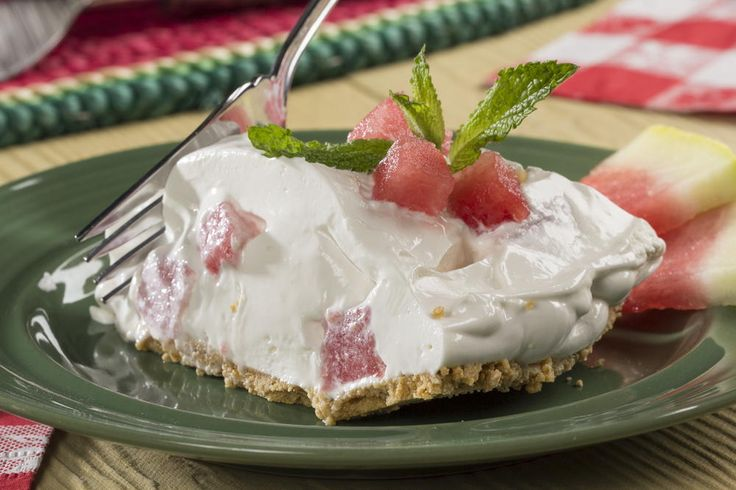 Beat the summer heat by making this no-bake pie with refreshing watermelon! Our Watermelon Pie is creamy, cool, and full of fun summer flavors.