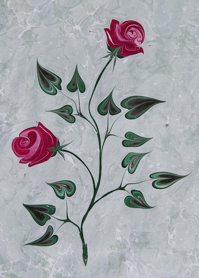 sayitkarabulut marblingart rose