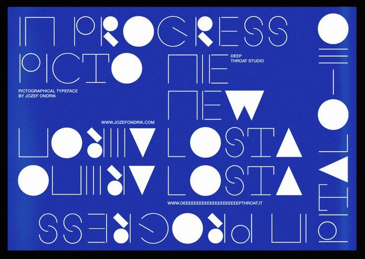 jozefondrik: Picto Typeface / Promo Poster / Created by Jozef Ondrik