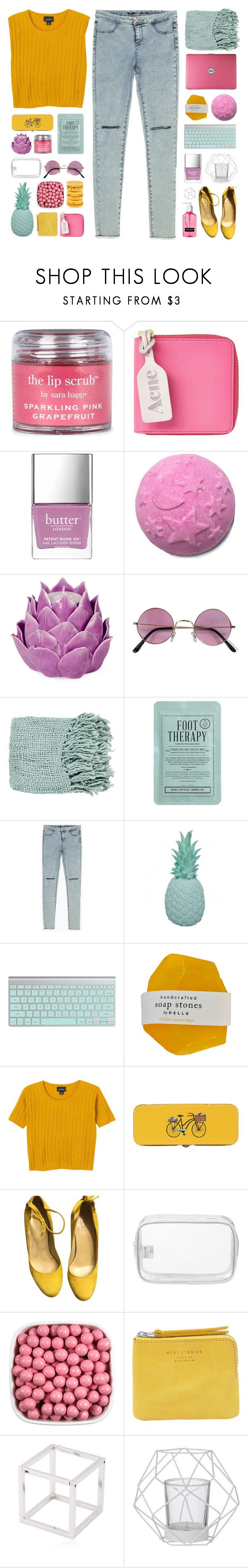 """so hold me tight and don't let go"" by via-m ❤ liked on Polyvore featuring Sara Happ, Acne Studios, Butter London, Zara Home, Surya, Kocostar, Zara, Ananas, Monki and Danica Studio"