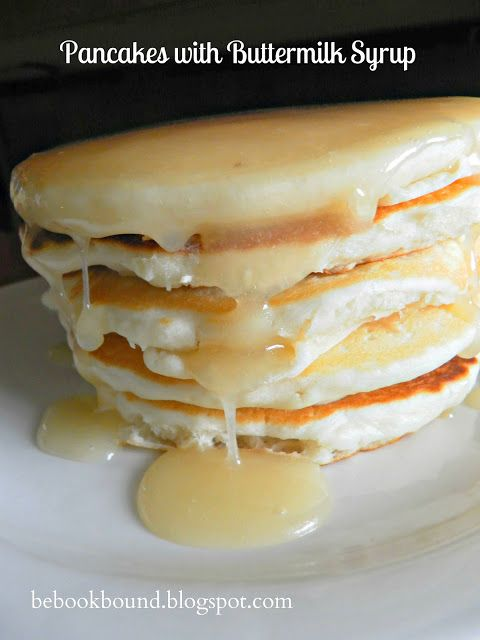 Little House on the Prairie: Flapjacks and Syrup Recipe from Be Book Bound Love this recipe for buttermilk syrup