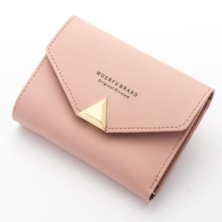 Ladies Purse Top Leather Mini Envelope Wallet Small Clutch Female Wallets
