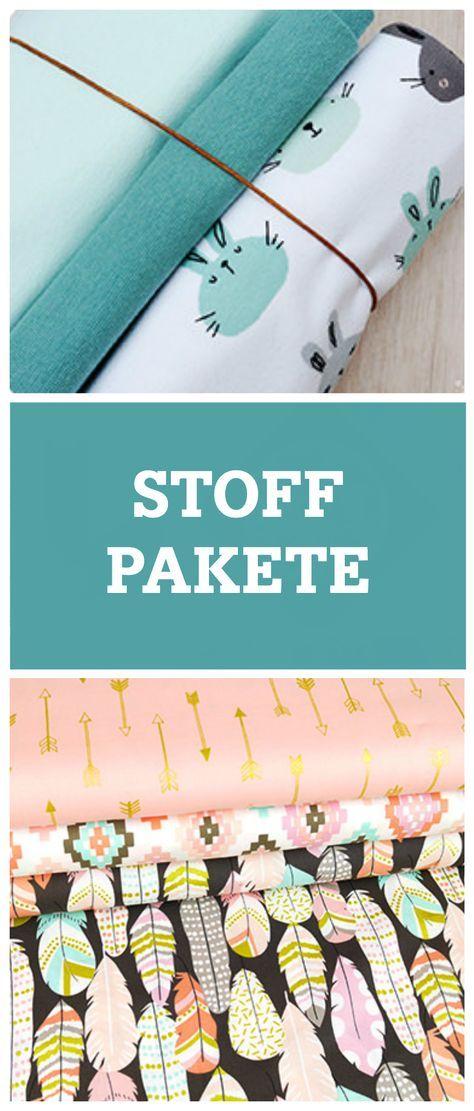 Näh mal wieder: Tolle Stoffpakete mit bunten Farben und Mustern für Mode, Taschen und mehr / new fabric designs for your sewing projects via DaWanda.com