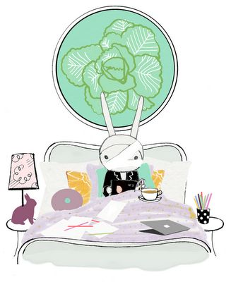 Have a sick little one at home- reminded me of this.  Just like the drawing style.  Fifi Lapin