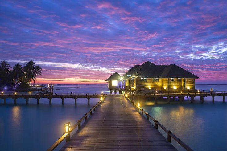 Sunset at The Sun Siyam Iru Fushi Maldives.  #sunset #beach #maldives #ocean #luxury #resort