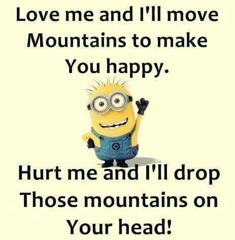 Love is powerful, it empowers you, it makes you you, love is accepting and caring, you know minions can say love quotes in a lot better way, so here we have some great Minions Love Quotes