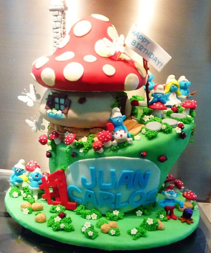170 Best Smurf Cakes Images On Pinterest Cake Designs