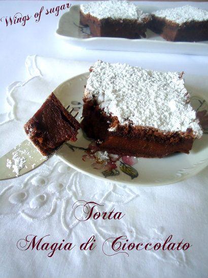 Torta magia di cioccolato e crema torta magica ricetta