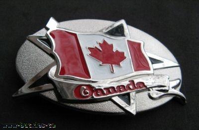 Canada Canadian Canadien Ottawa Maple Flag Belt Buckles