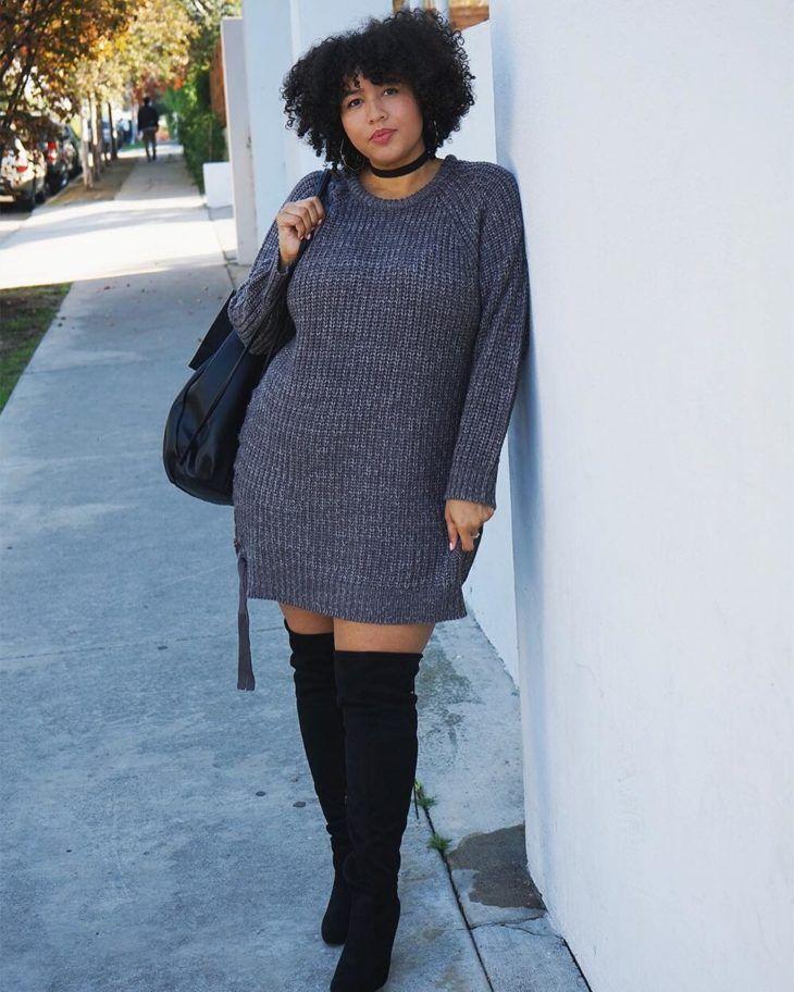 100 looks da moda plus size para você arrasar sem abrir mão do próprio estilo | Fashion boots, Fashion, Vintage style outfits