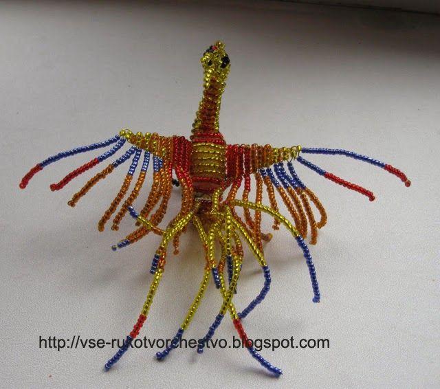 Жар-птица из бисера