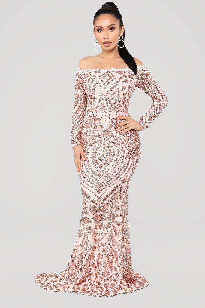 b1bbf28ee4 Chloe RoseGold Sequin Dress - RoseGold in 2019