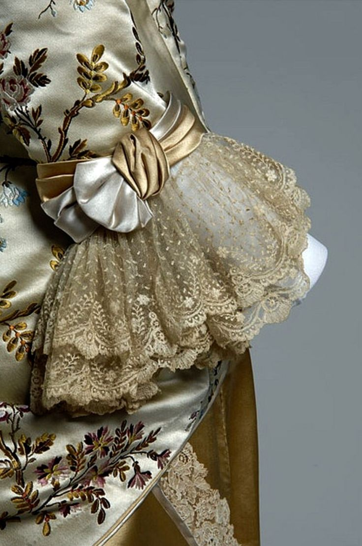 Detail of Pingat Gown designed for Mrs. A. Newland-Eddy in 1878