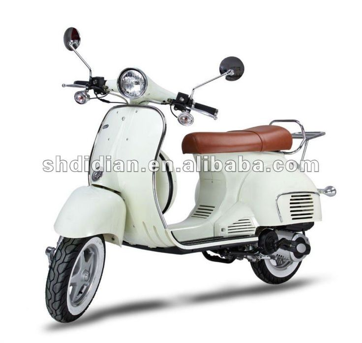 modern design retro vintage vespa style 50cc scooter with. Black Bedroom Furniture Sets. Home Design Ideas