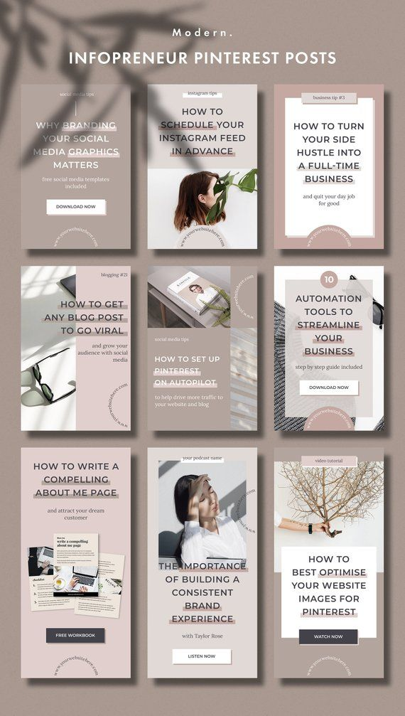 Pinterest Blog Graphics Template Pack For Infopreneurs Etsy Blog Graphics Blog Post Graphics Pinterest Templates