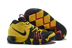ed31843668f4 Zero Defect Nike Kyrie 4 Yellow Black Red Men s Basketball Shoes Irving  Sneakers