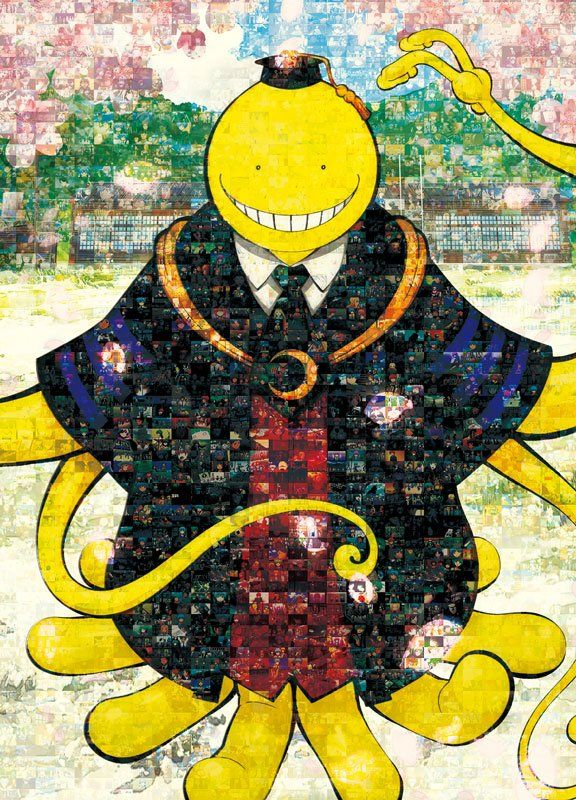 Scenes from Assassination Classroom made into Koro~Sensei We will never forget you!