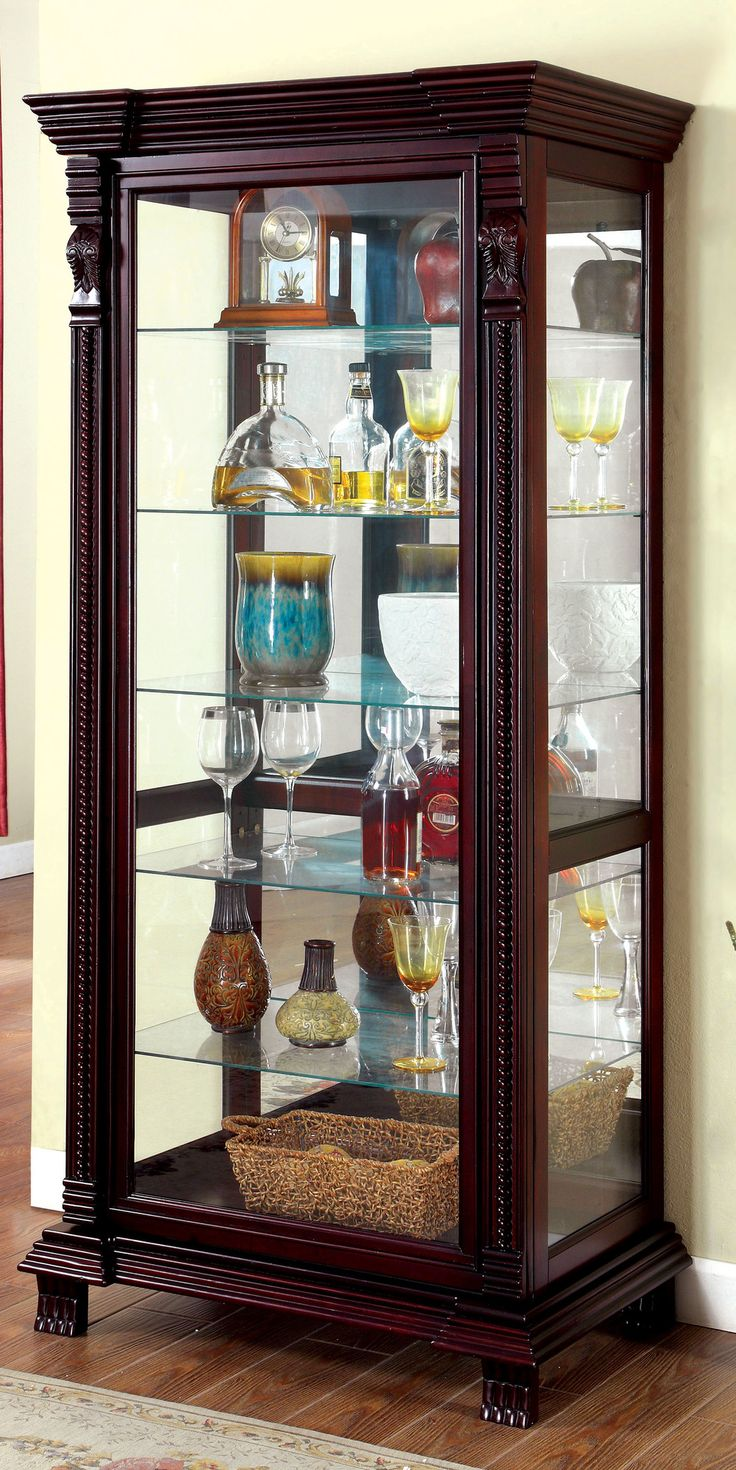 Awesome Small Cherry Curio Cabinet