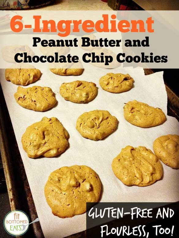 Gluten-Free 6-Ingredient Peanut Butter and Chocolate Chip Cookies