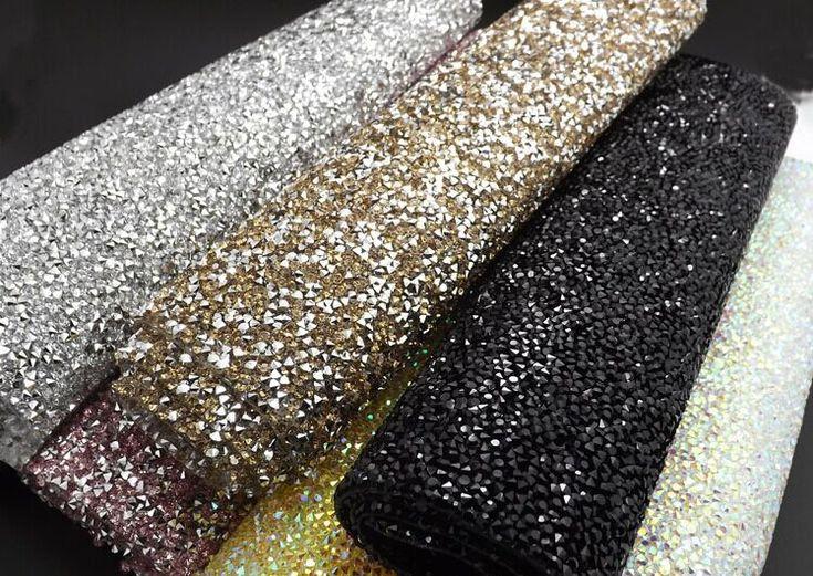 Crystal Resin Ab Rhinestones Self Adhesive Sheet Or Hotfix To Fabric Rhinestone Decor Mesh Roll