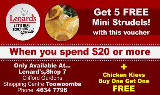 5 FREE mini strudels