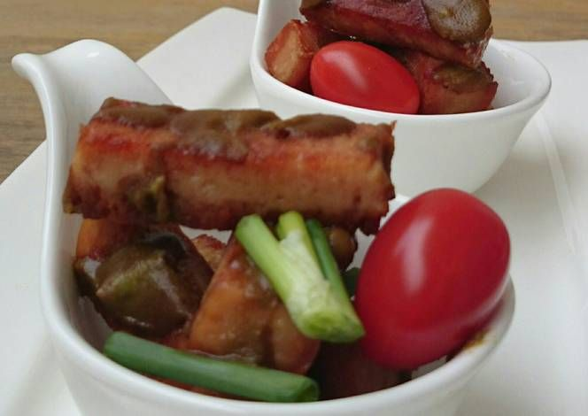 Spam With Wasabi Sauce Recipe -  I think Spam With Wasabi Sauce is a good dish to try in your home.