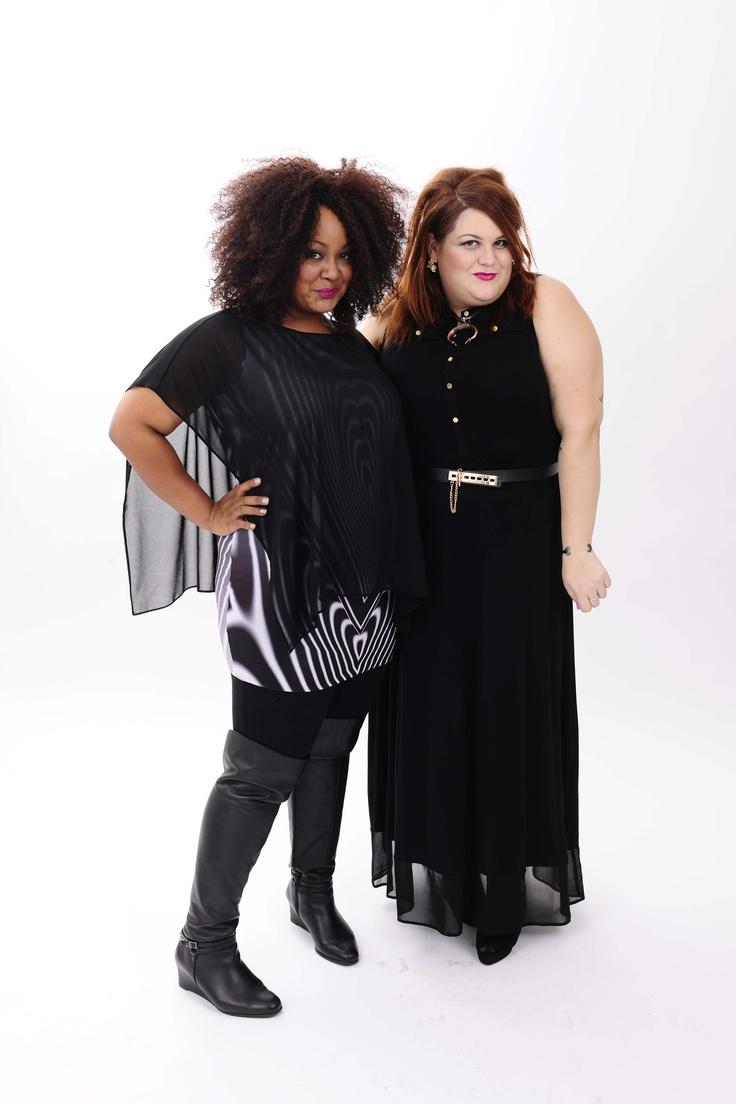 @no way Denee, The Curvy Fashionista  and @Nicole Pielou Mason looked amazing at our Shape Studio wearing Live Unlimited and Evans.