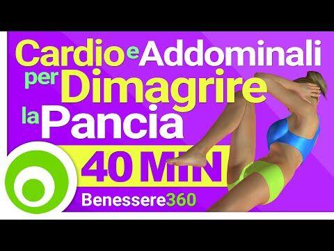Allenamento Cardio per Dimagrire la Pancia - 40 Minuti di Aerobica e Addominali a Casa - YouTube