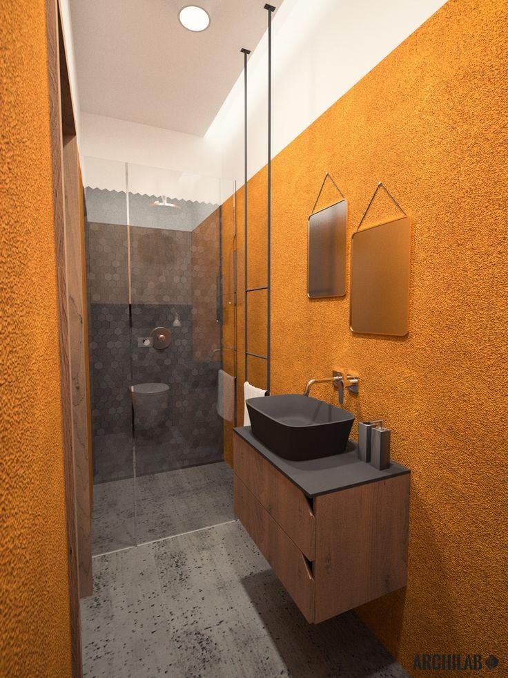 Návrh rodičovskej kúpeľne - interiér rodinného domu, Záhorská Bystrica, Bratislava - Interiérový dizajn / Bathroom interior by Archilab