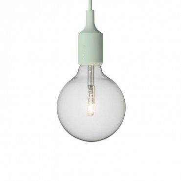 Muuto E27 Halogen Pendant  Named for the screw base developed by Thomas Edison - this socket light celebrates the simplicity of the naked bulb.