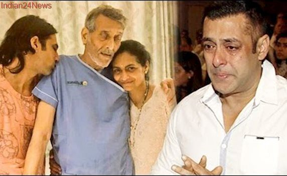 Salman Khan Visit Vinod Khanna In Reliance Hospital Late Night