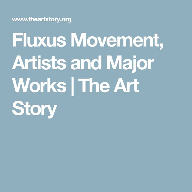 Fluxus Movement, Artists and Major Works   The Art Story
