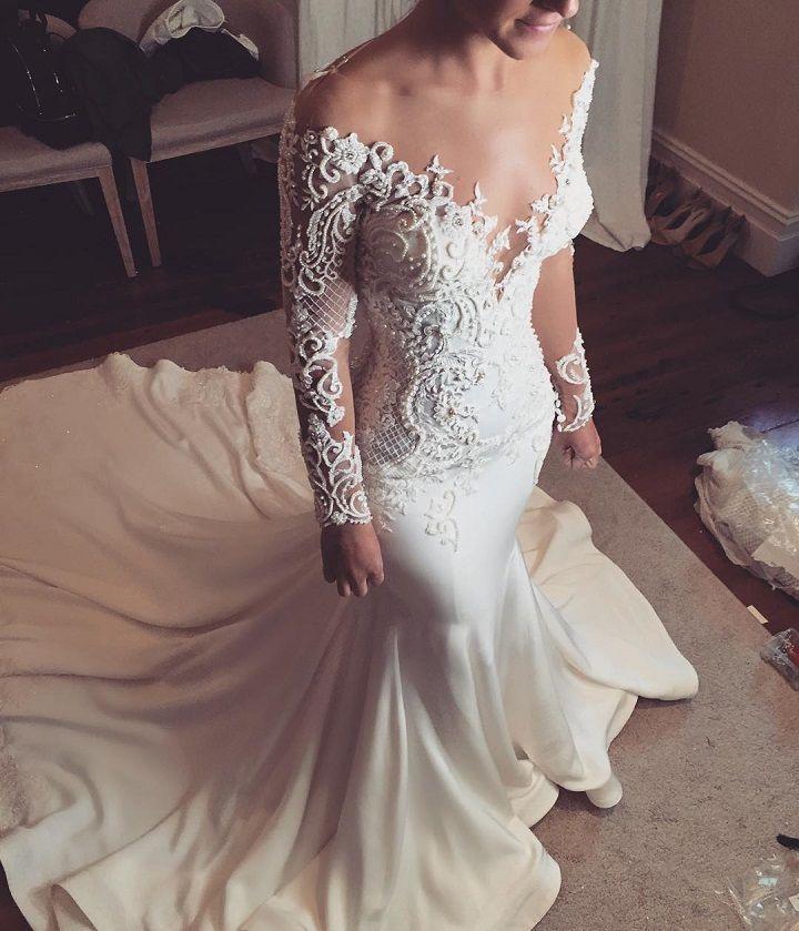 long sleeve mermaid wedding dresses | itakeyouj.co.uk #wedding #weddingdress #weddinggown #bridalgown #bride #weddingdresses #mermaid leah da gloria took the cake