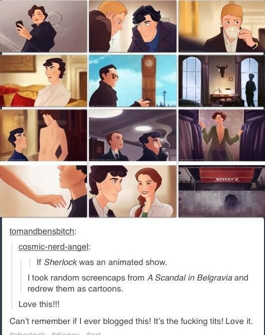If Sherlock were animated...except i think they could have made his hair look better
