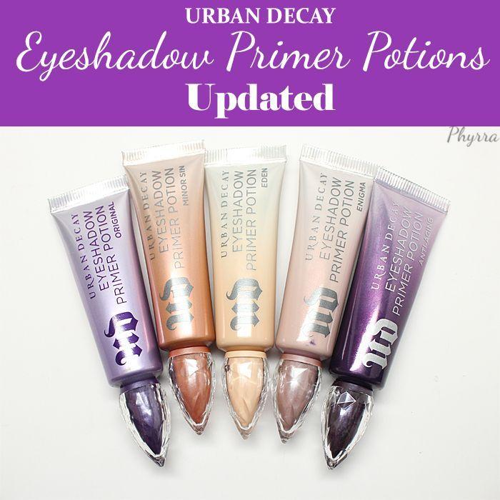 Urban Decay Eyeshadow Primer Potions - Original, Eden, Enigma, Minor Sin, Anti-Aging