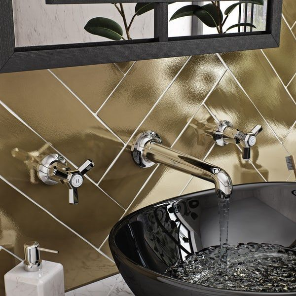 The Bath Co Beaumont Wall Mounted Basin Mixer Tap Basin Mixer Taps Wall Mounted Basins Basin Mixer
