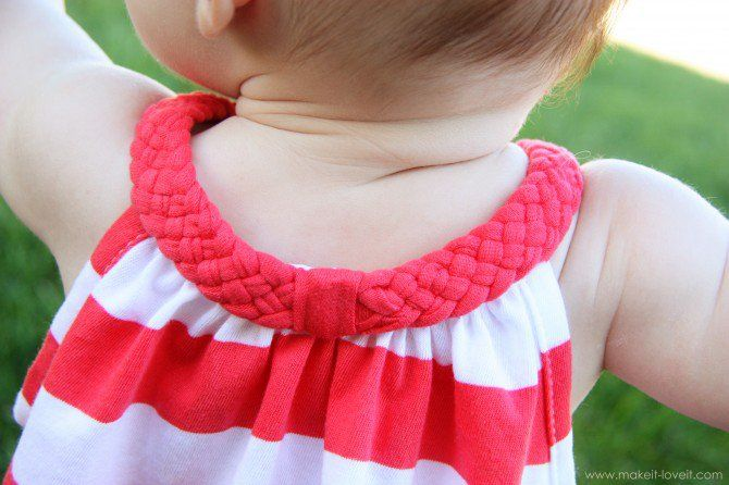 Re-Purposing: Tshirt into a Dress with Braided Collar | Make It and Love It