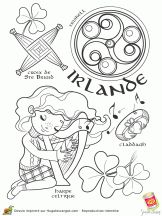 free printable coloring pages (in French) representing many areas of the world