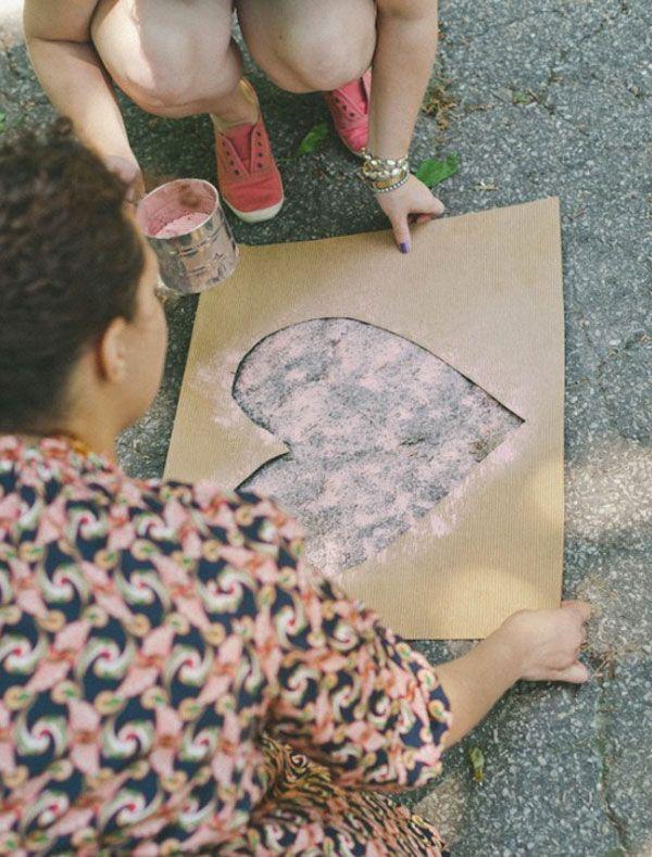 DIY : Chemin de jolis coeurs pastels - Organiser un mariage