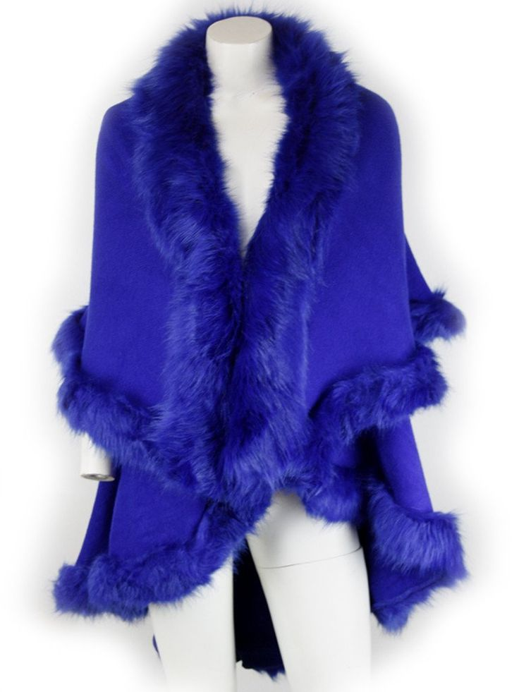 Nina Blue Fur Knit Cardigan