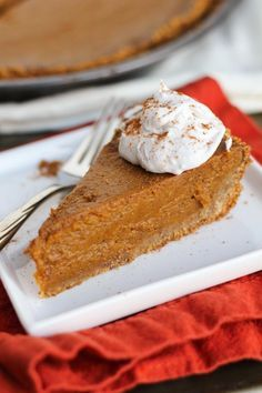 Vegan Pumpkin Pie (with a graham cracker and coconut oil crust)                                                                                                                                                                                 More