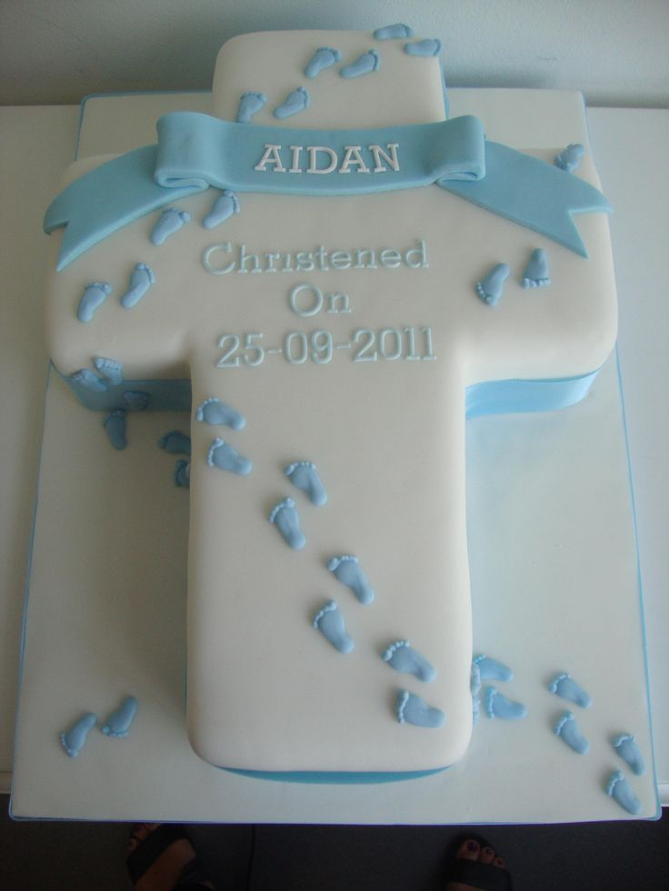 crucifix cake | Blue Cross Footprint Cake - Cake Gallery - Cakeology