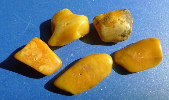 Multi-Colour Honey Yellow Orange Black BALTIC AMBER gemstones
