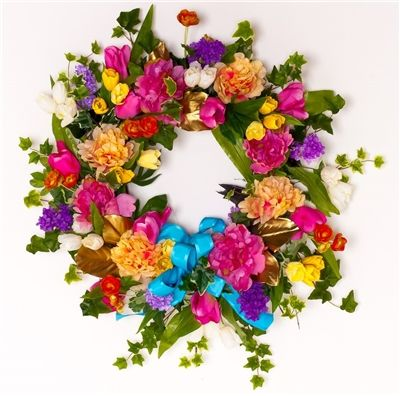 pictures of spring wreaths | All Dressed Up Spring Wreath