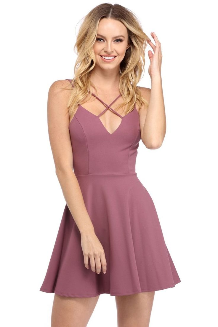 Mauve Stay Fly Skater Dress | WindsorCloud