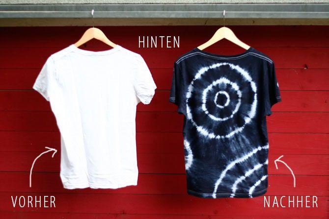 T-Shirt Batik, Kreise färben
