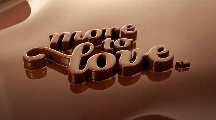 Dove Chocolate campaign: lettering created by Jessica Hische, then laser cut and coated in chocolate.