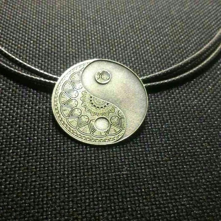Ying yang pendant silver sterling